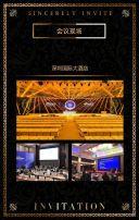 黑金高端商务科技峰会展会论坛会议邀请函企业宣传H5