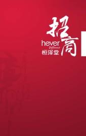红色中国风招商画册