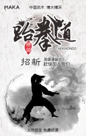 水墨跆拳道培训班学校招生宣传