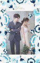 永恒之花轻奢欧系蓝宝石婚礼邀请函 婚礼请柬 婚礼请帖