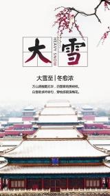 大雪之十二节气海报