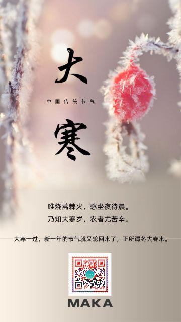 中国传统二十四节气之大寒海报