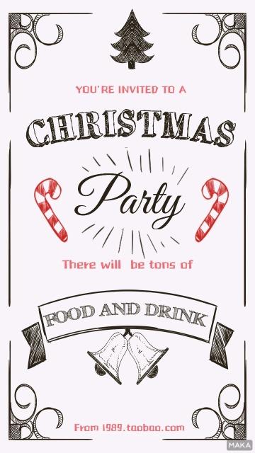 圣诞涂鸦海报
