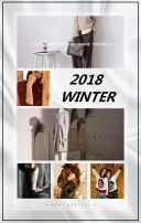 灰色时尚冬季新品女装冬季上新翻页H5
