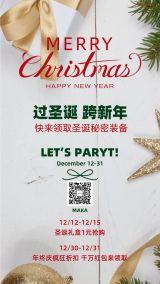 圣诞节2020年米色时尚简约大气宣传活动海报