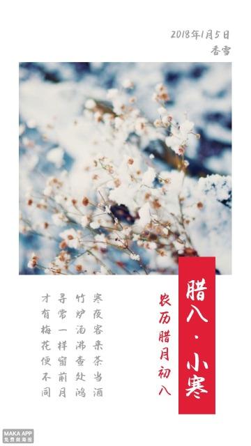 中国风古风腊八节/小寒腊梅/香雪