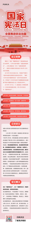 红色简约大气国家宪法日节日宣传长页H5
