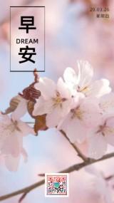 文艺简约小清新早安问候祝福语鼓舞日签心情海报