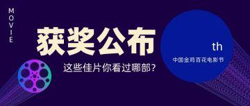 蓝色简约大气风格金鸡颁奖典礼宣传公众号首图
