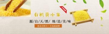 简约扁平食品粮食电商产品宣传banner