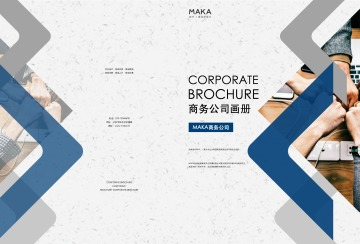 经典商务企业宣传画册