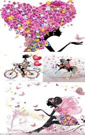女生节女神妇女樱花浪漫风格,各网店微商实体店节日促销宣传H5