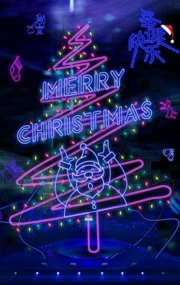 创意霓虹灯趣味圣诞节贺卡/圣诞祝福/平安夜/圣诞祝福