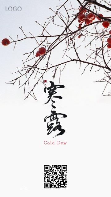 二十四节气寒露柿子文化习俗宣传推广-浅浅设计