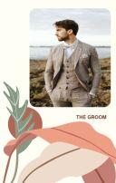 ins热带植物手绘美式风格婚礼请柬邀请函