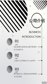 简约大气灰色圆圈线条公司介绍海报