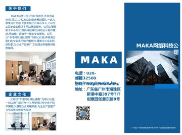 蓝色公司企业文化宣传公司介绍宣传3折页