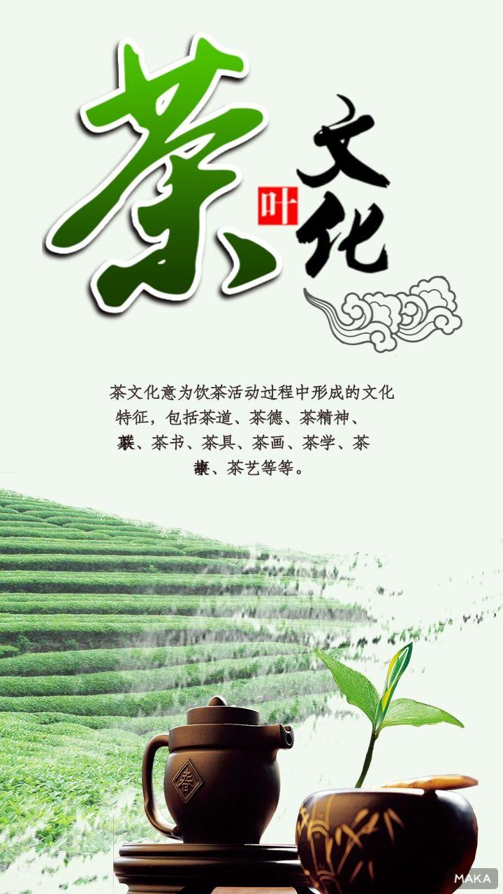 浅绿色调茶叶文化宣传
