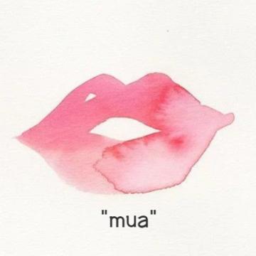 卡通创意嘴唇亲吻表白微信社交平台个性头像