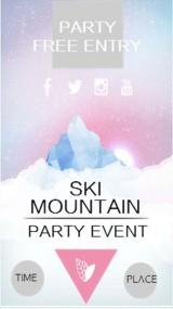 滑雪山聚会邀请函