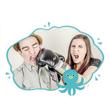 可爱海洋卡通动物社交头像