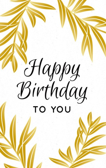 简约白金气质生日卡通用生日邀请 birthday