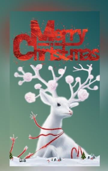 卓·DESIGN/时尚绿金圣诞节祝福贺卡企业个人通用情侣祝福平安夜表白告白企业宣传简介
