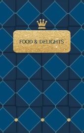 深蓝色时尚简约餐厅美食推广H5