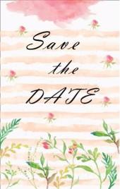 粉色温馨小清新森系婚礼邀请函手绘花朵请柬H5