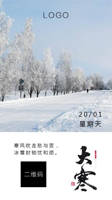 大寒励志生活每日一签海报