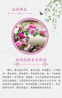 绿色清新文艺谷雨节日宣传翻页H5