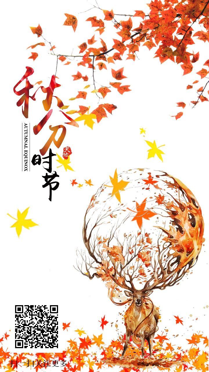 枫叶秋分宣传海报