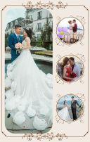 高端轻奢婚礼 时尚浪漫婚礼请柬邀请函 唯美 小清新 文艺 欧式 欧美 韩式婚礼