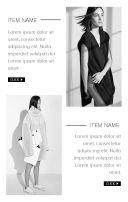 高端时尚潮流女装服饰鞋包化妆品微店宣传推广h5模板
