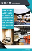 扁平简约蓝色企业宣传招商加盟画册H5