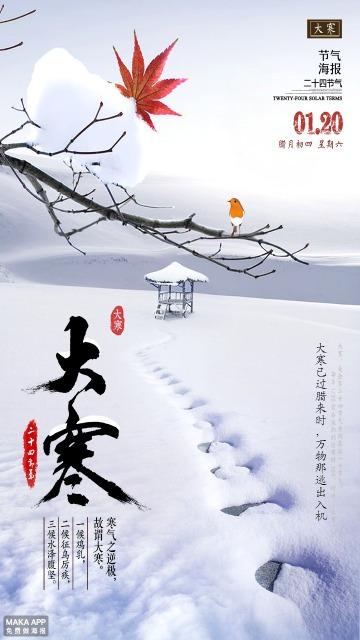 24节气大寒海报