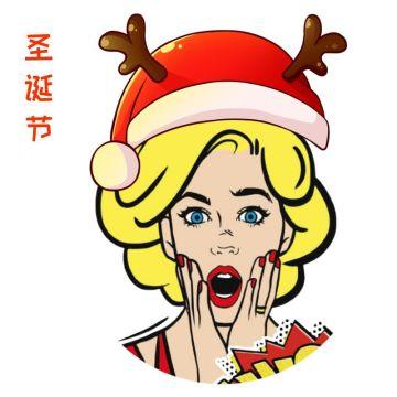 圣诞主题可爱边框头像适合社交互联网中个性头像社交朋友圈封面使用