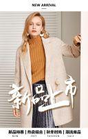 时尚简约冬季女装新品上市促销模板/简约高端女装新品促销模板