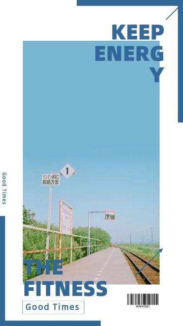 蓝色简约大气欧美时尚艺术拼图海报