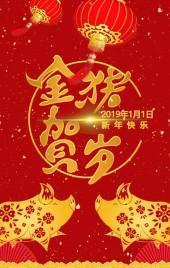 金猪贺岁2019春节晚会活动介绍模板