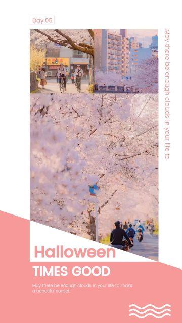 粉色简约大气欧美时尚艺术拼图海报