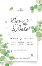 高端森系韩式婚礼邀请函结婚请帖H5