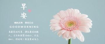 唯美花朵小清新早安励志日签晚安心情寄语微信公众封面大图