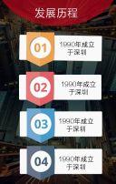 红色时尚企业宣传册翻页H5