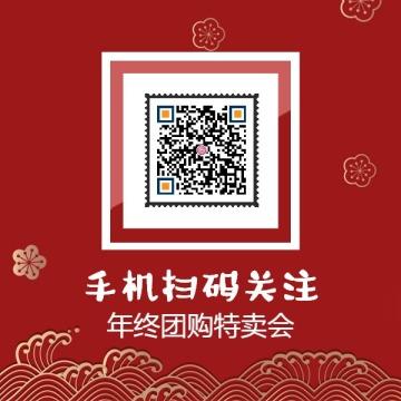 新年促销店铺二维码公众号订阅号识别信息
