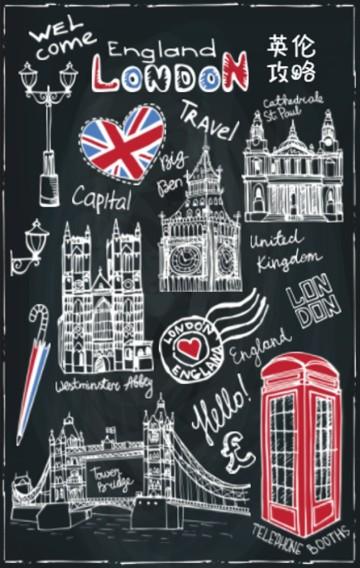 敲黑板手绘风旅行社英伦攻略行程安排、旅行相册