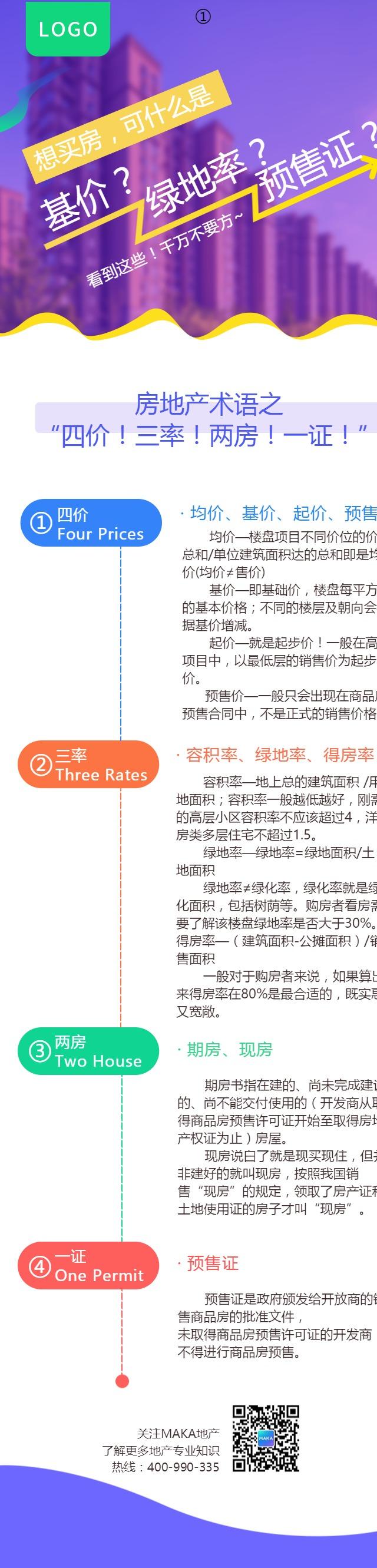 简洁炫彩房地产行业宣传单页
