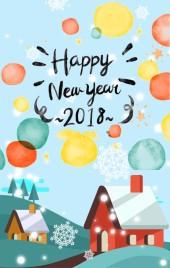 2018拜年 小清新新年贺卡 除夕祝福