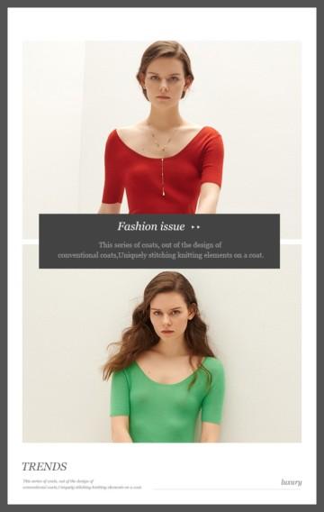 时尚女装店春季夏季新款上新促销H5