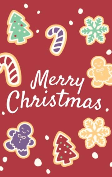 圣诞节各类场景红色祝福贺卡
